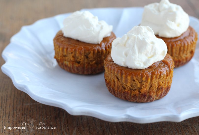 Mini paleo sweet potato pies - can also be made with pumpkin